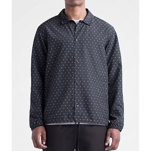 Herschel Men's Coach Jacket in Black Gridlock